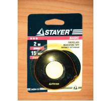 Сантиметр STAYER 34254-2,0 портняжный, непрерывное полотно, 15 мм x 2 м