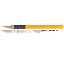 Нож макетный OL-AK-4, 4 запасных лезвий