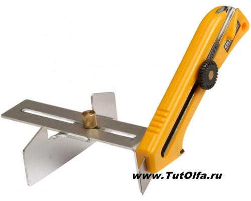 Нож OL-KL с регулятором реза и направляющей, 18 мм